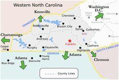 Franklin North Carolina Map Franklin north Carolina Map | secretmuseum
