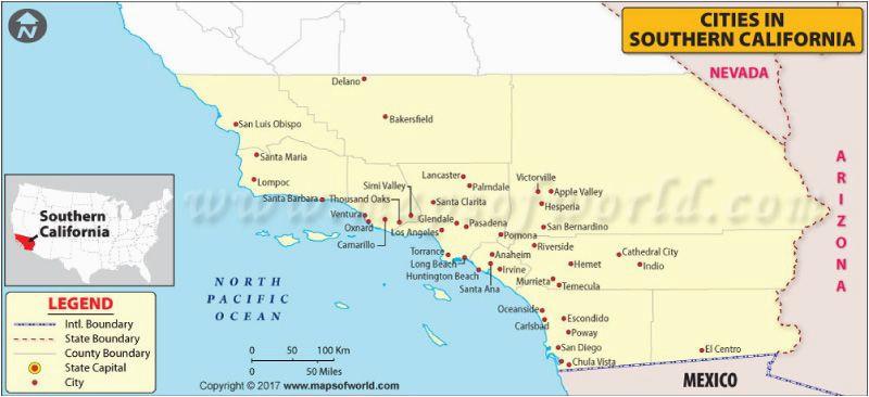 Map Of California Fresno.Fresno On California Map Map Of Southern California Cities