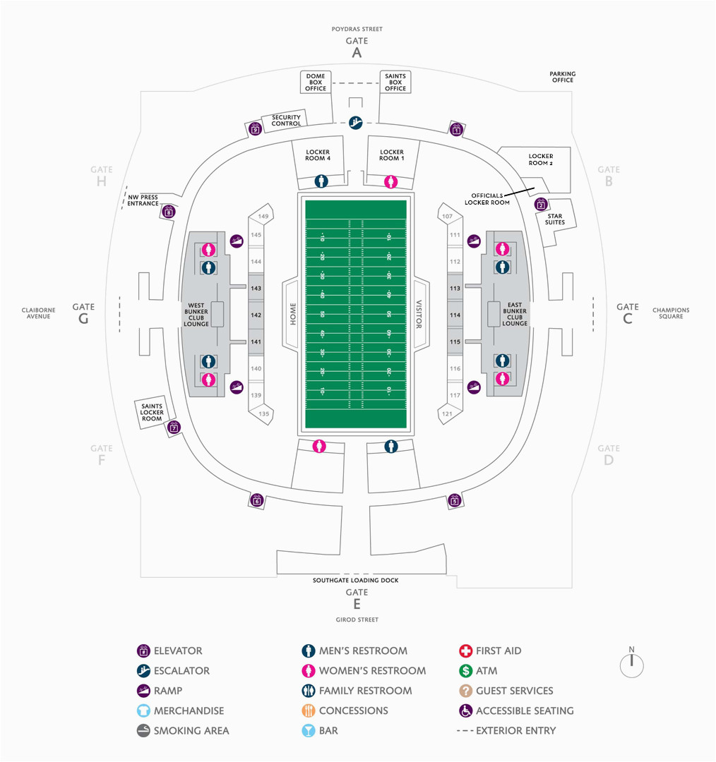 Map Of Georgia Dome.Georgia Dome Parking Map Football Seating Charts Mercedes Benz