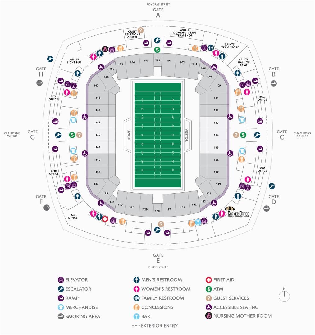 Georgia Dome Parking Map Football Seating Charts Mercedes Benz