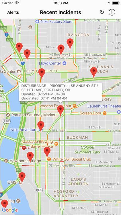 portland incident map alerts by david gross