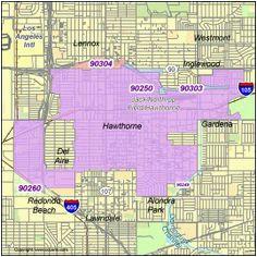Hawthorne California Map.Hawthorne California Map Secretmuseum