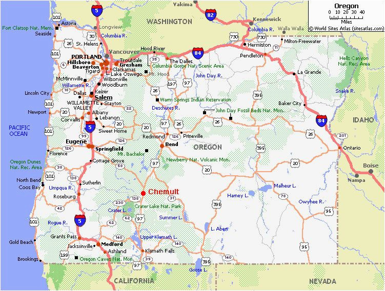 Oregon Highway Map Highway Map Of oregon | secretmuseum