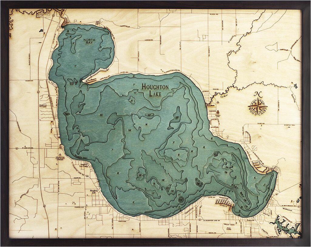 bathymetric maps michigan scrimshaw gallery