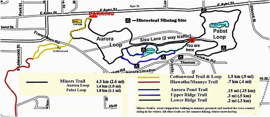 Ironwood Michigan Map Trail Map Picture Of Miners Memorial Heritage Park Ironwood