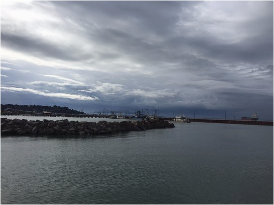 the sky has stared to clear picture of astoria oregon riverwalk