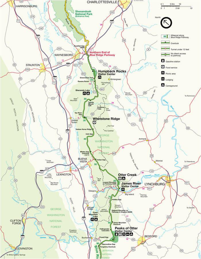 blue ridge parkway maps