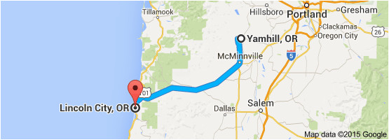 from yamhill or to lincoln city or oregon wine country