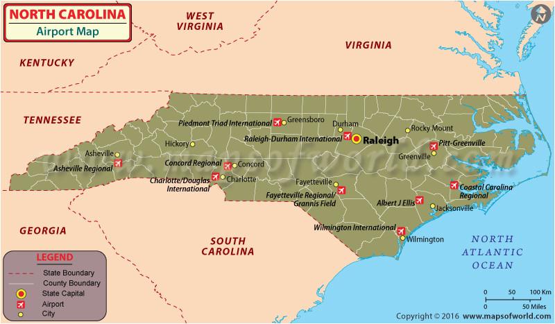 Map Of Airports In north Carolina | secretmuseum