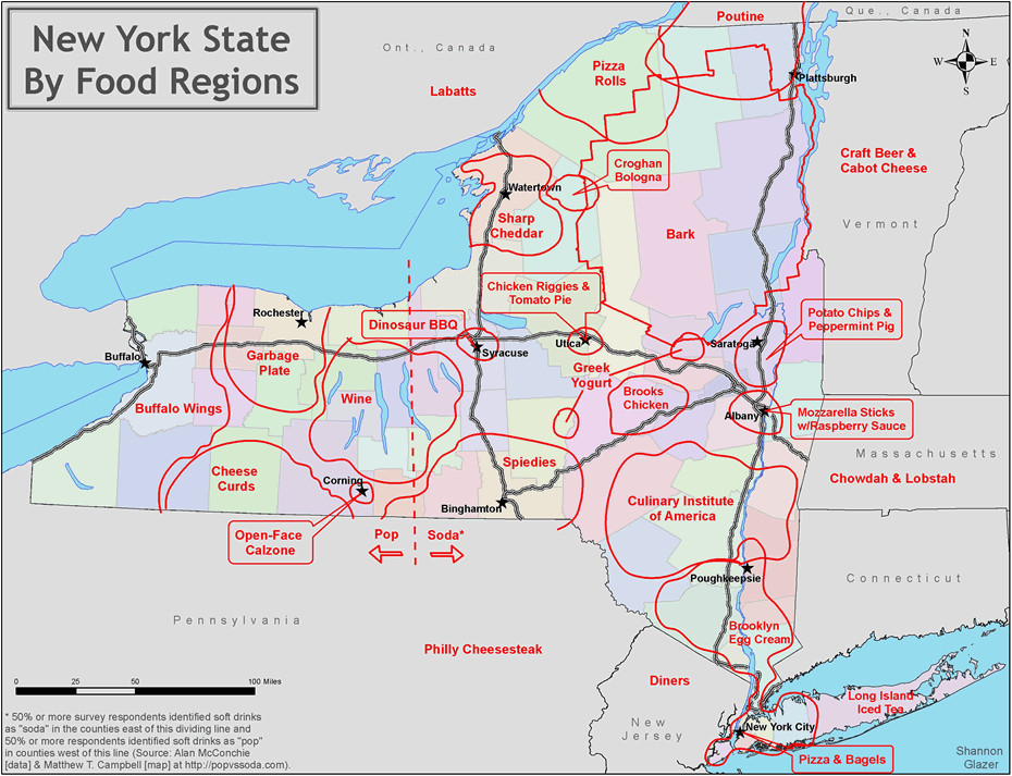 new york state food regions map all over albany