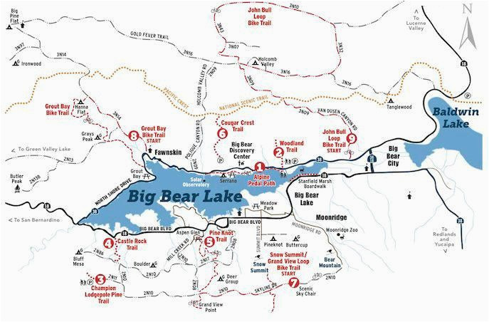 hiking and biking trail map big bear lake hiking remember