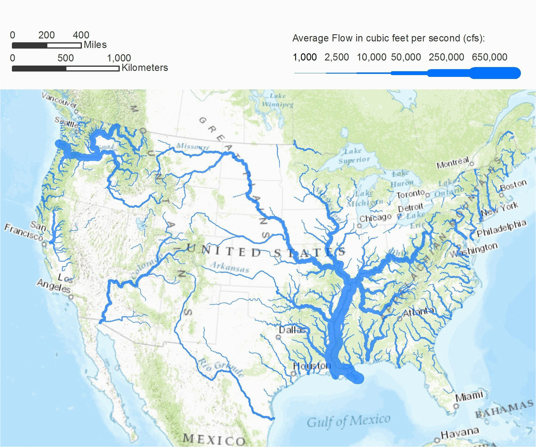 Map Of California Rivers and Lakes northern California ...