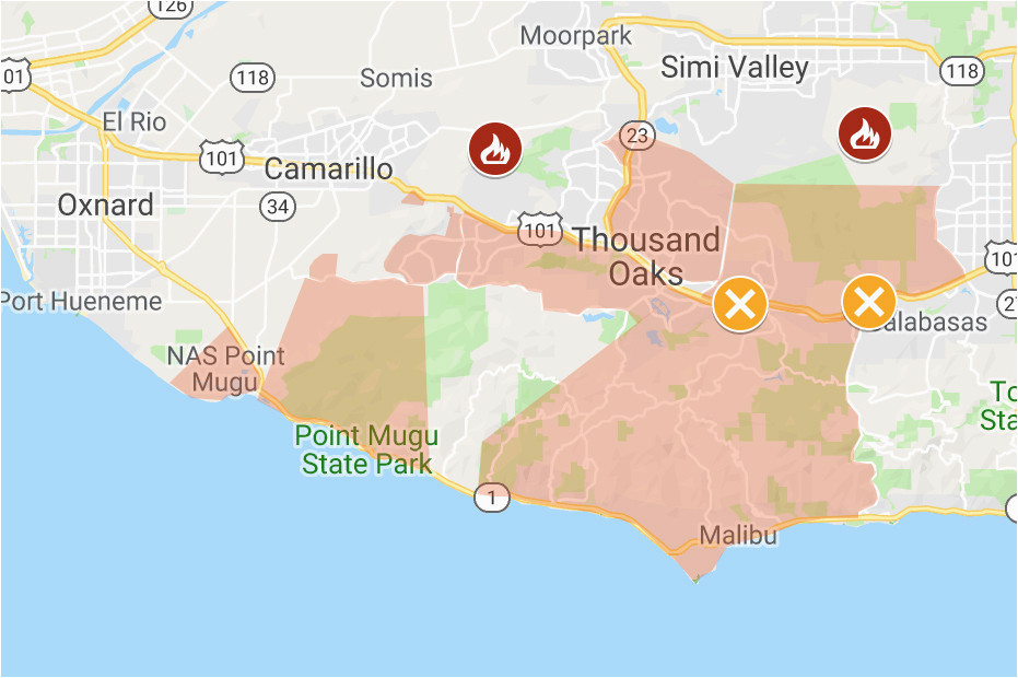 map of woolsey and hill fires updated perimeters evacuation zones