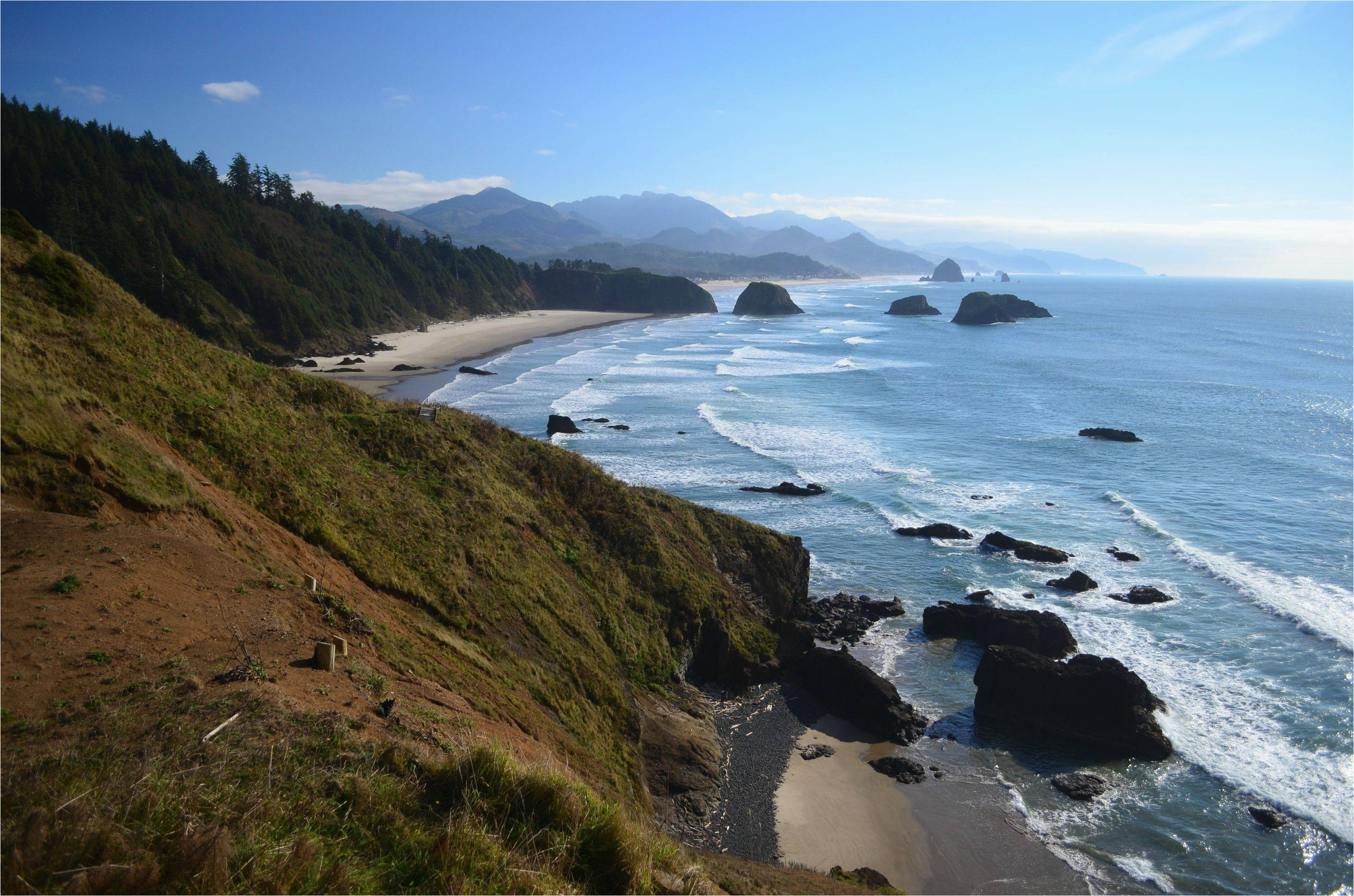 cannon beach taken from ecola point on oregon s northern coast