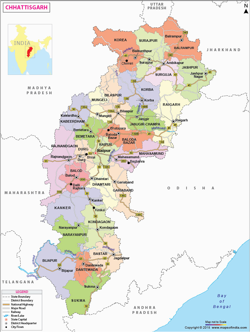 chhattisgarh state information and chhattisgarh map