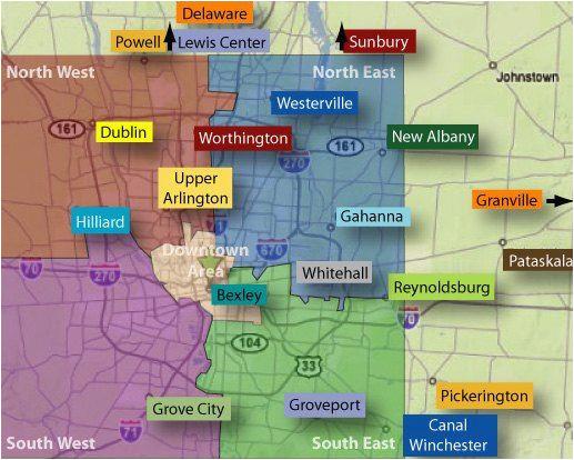Map Of Columbus Ohio Neighborhoods | secretmuseum