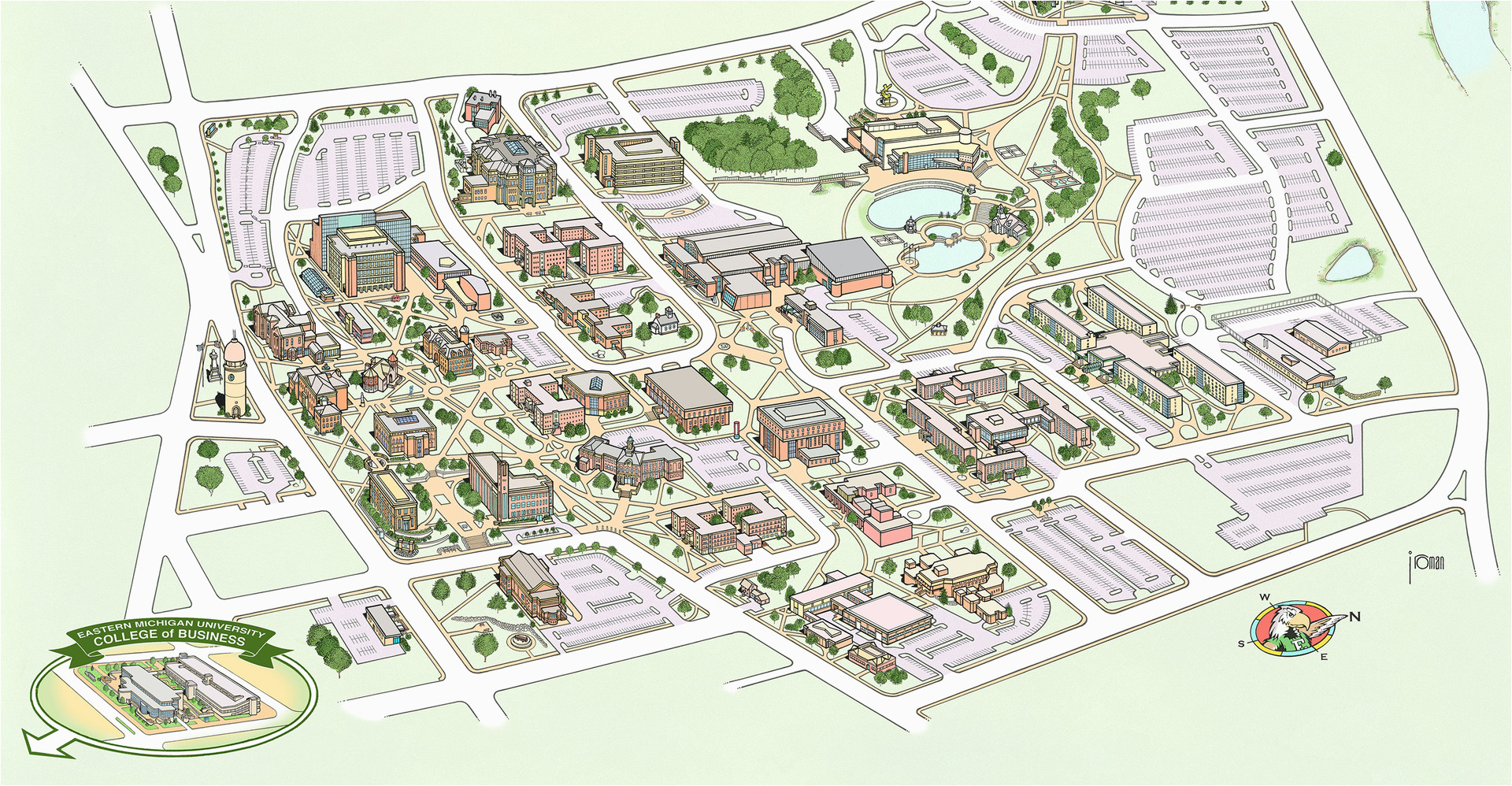 Map Of Eastern Michigan University Campus Campus Maps