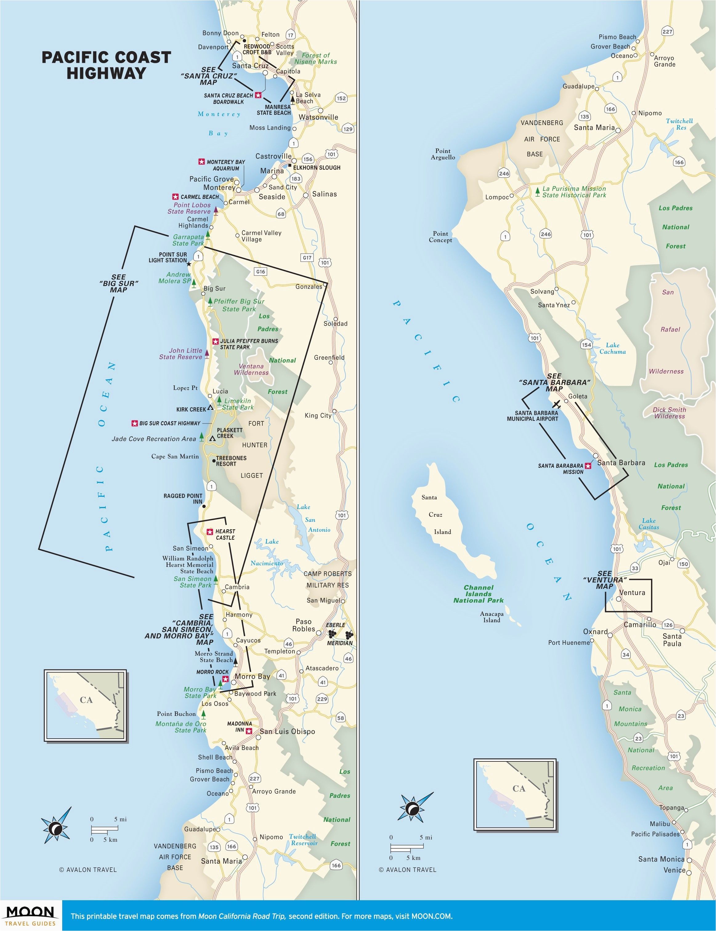 map of west coast of california printable maps map oregon and