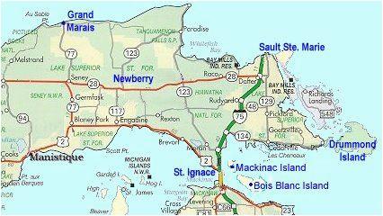 map of eastern upper peninsula of michigan trips in 2019 upper