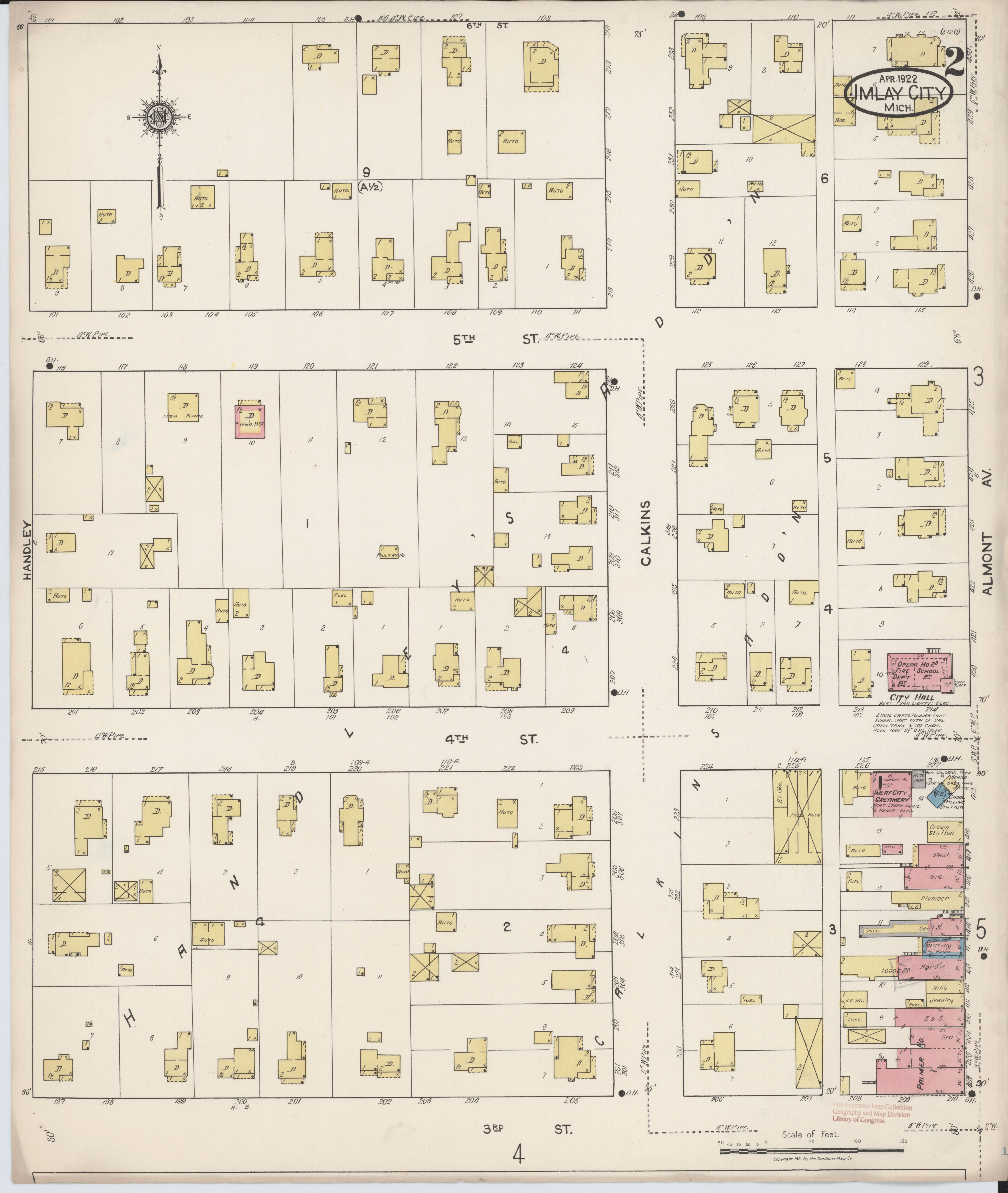 file sanborn fire insurance map from imlay city lapeer county