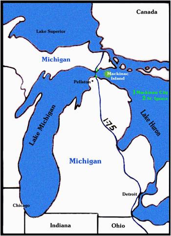 Map Of Mackinac island Michigan Getting to Mackinac island is as Easy as 1 2 3