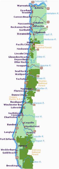 Map Of north oregon Coast   secretmuseum