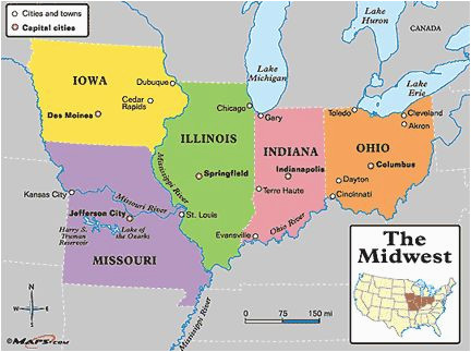 Map Of Ohio and Indiana with Cities Central America Map with ...