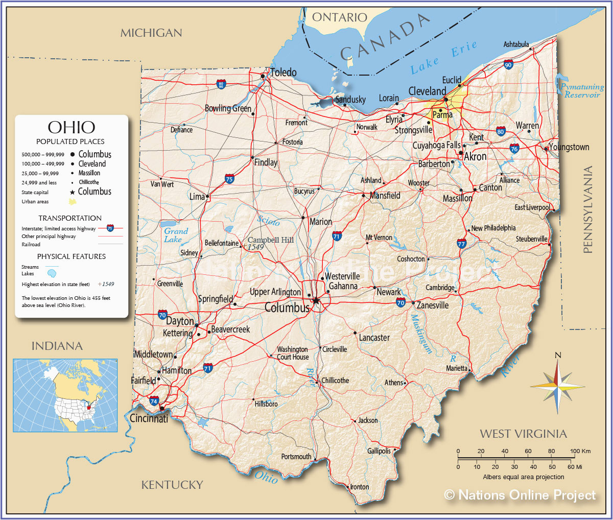 milan ohio map us city map kettering ohio zma travel maps and