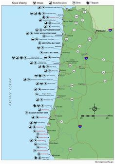 simple oregon coast map with towns and cities oregon coast in