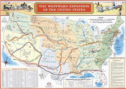 amazon com historic map the westward expansion of the united