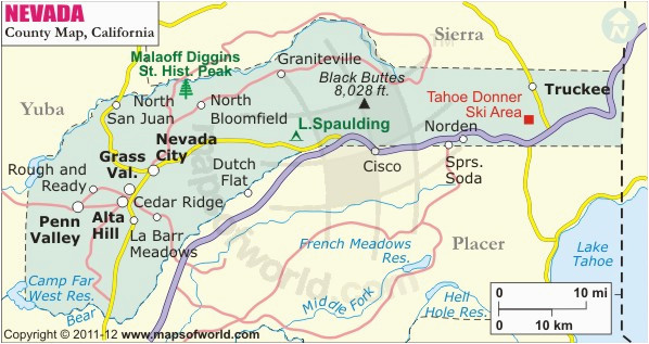 Map Of Placer County California California Map Showing ...