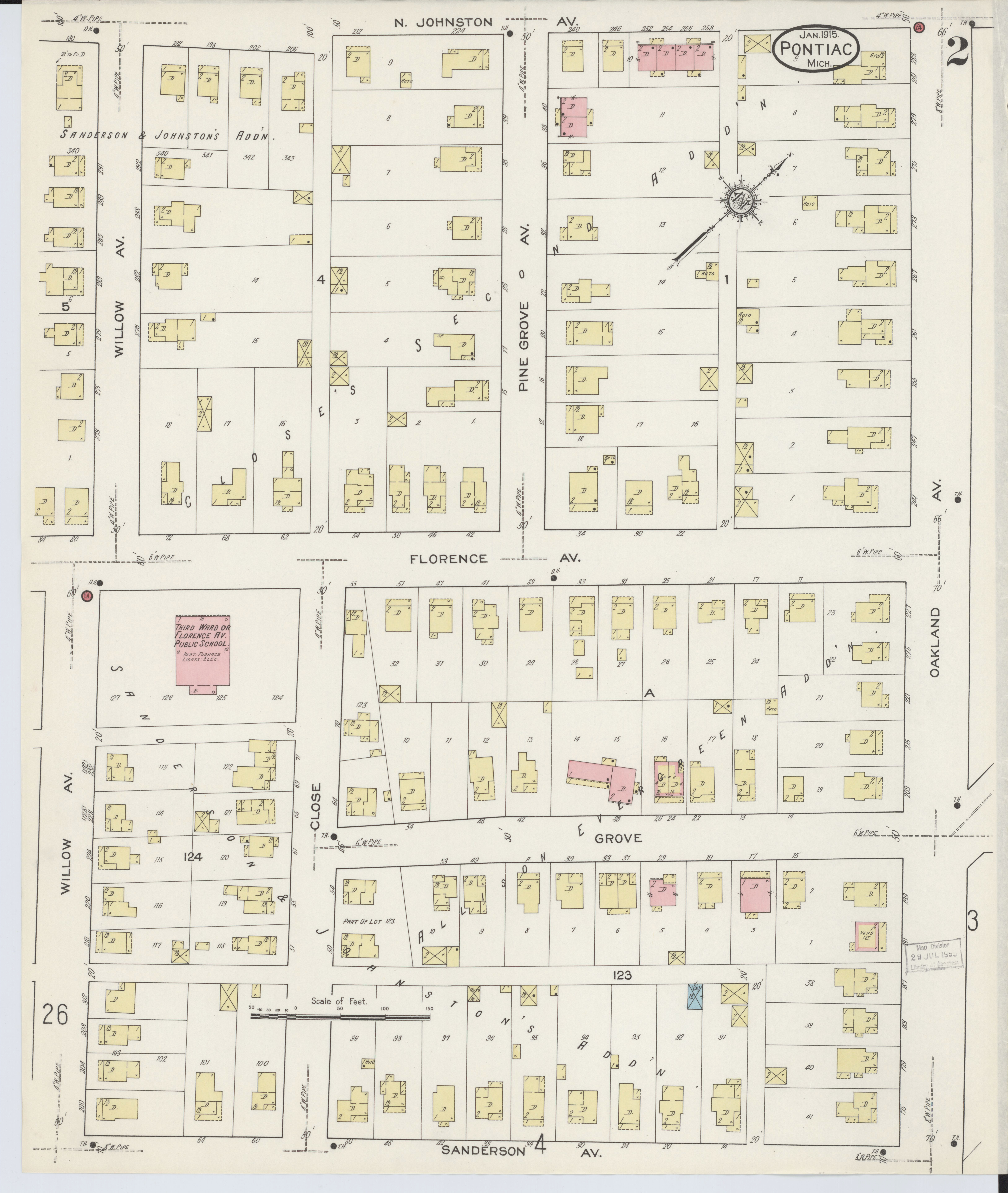 file sanborn fire insurance map from pontiac oakland county