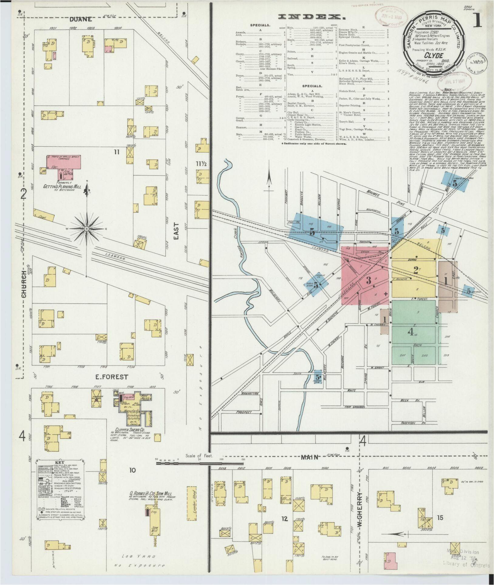 Map Of Ravenna Ohio Map Ohio Library Of Congress Secretmuseum