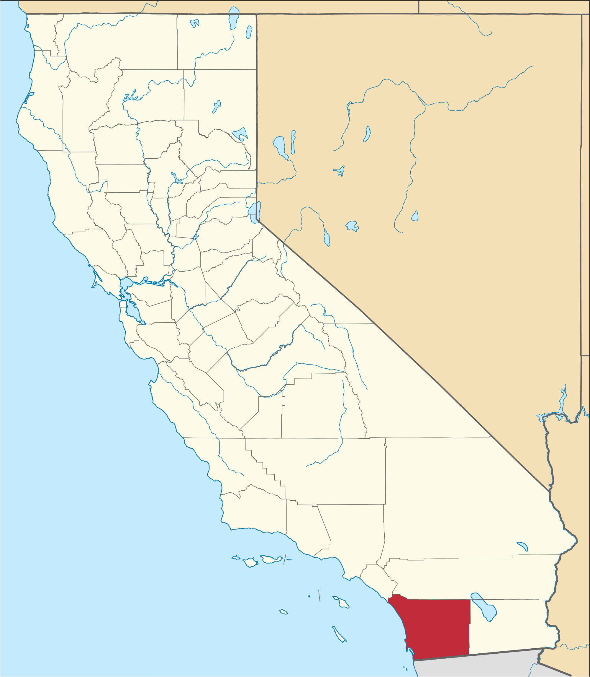 san joaquin valley on us map new san diego county california