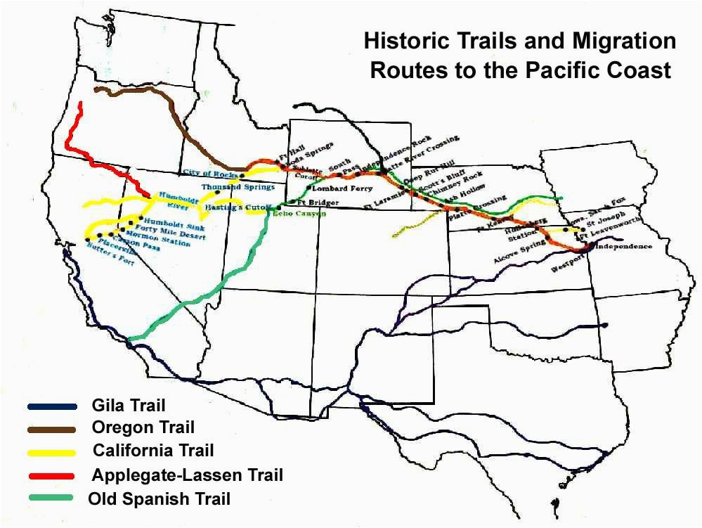 Map Of the oregon Trail with Landmarks Pin by Melinda Kashuba On ...