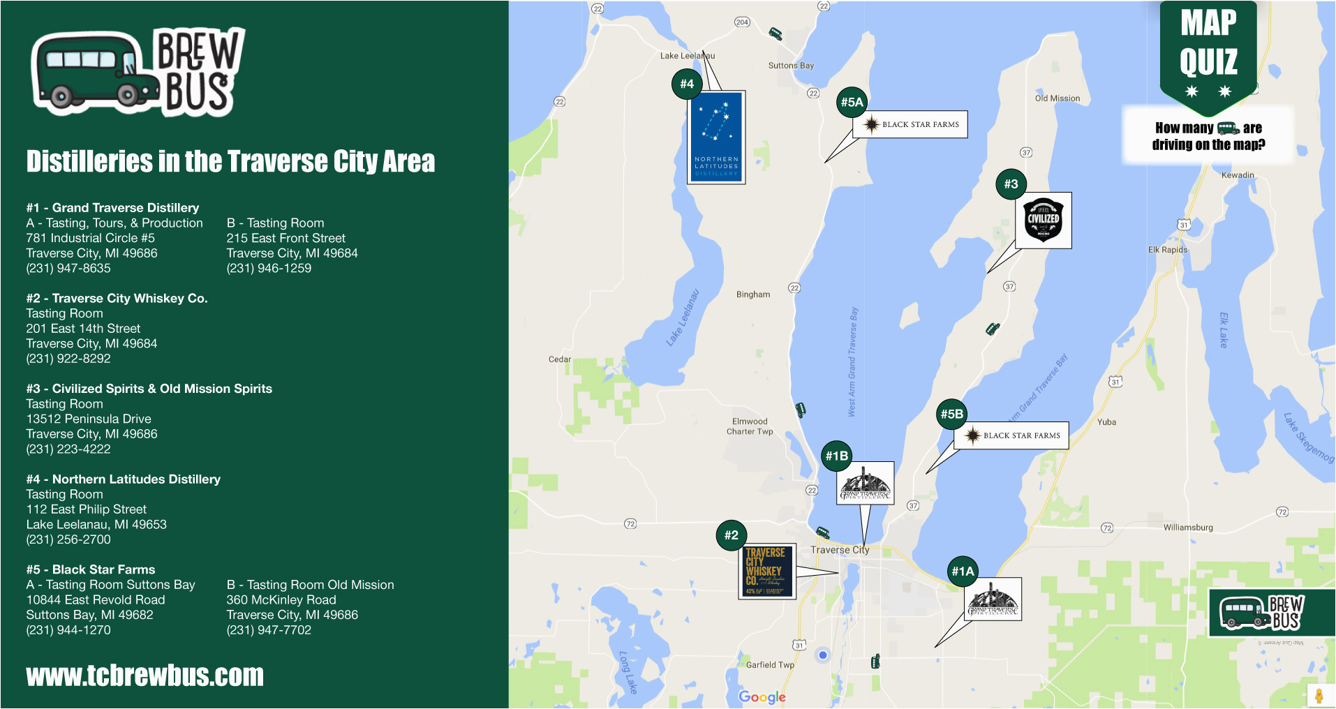 Map Of Traverse City Michigan tour the Distilleries In Traverse City Leelanau Wineries Map on