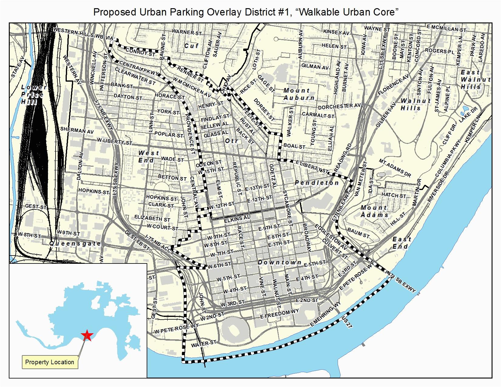 downtown cincinnati parking not required news planetizen