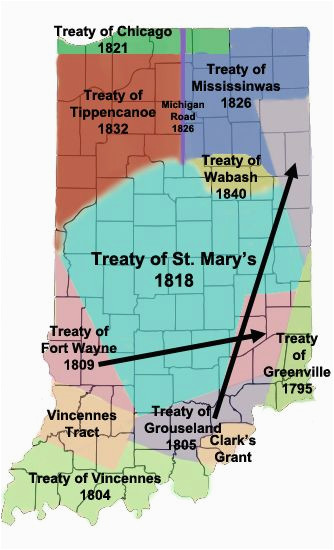 miami treaties in indiana maps indiana native american history