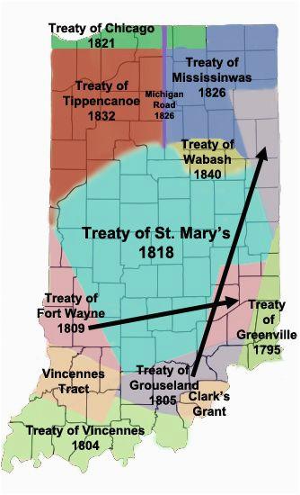 miami treaties in indiana maps indiana native american history