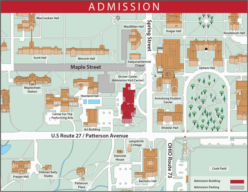 Michigan North Campus Map Oxford Campus Maps Miami
