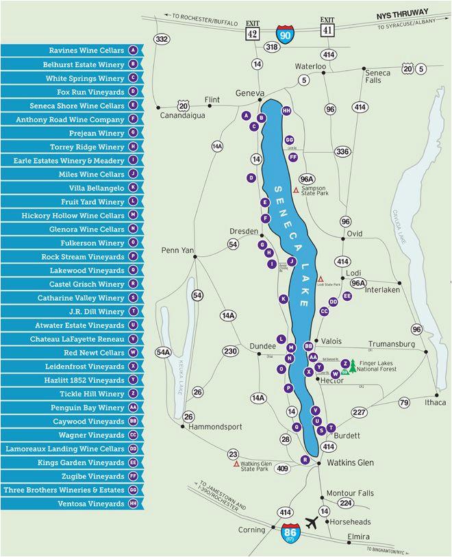 seneca lake wine trail map always wanted to visit finger lakes