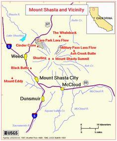 46 best maps mt shasta area images blue prints cards map