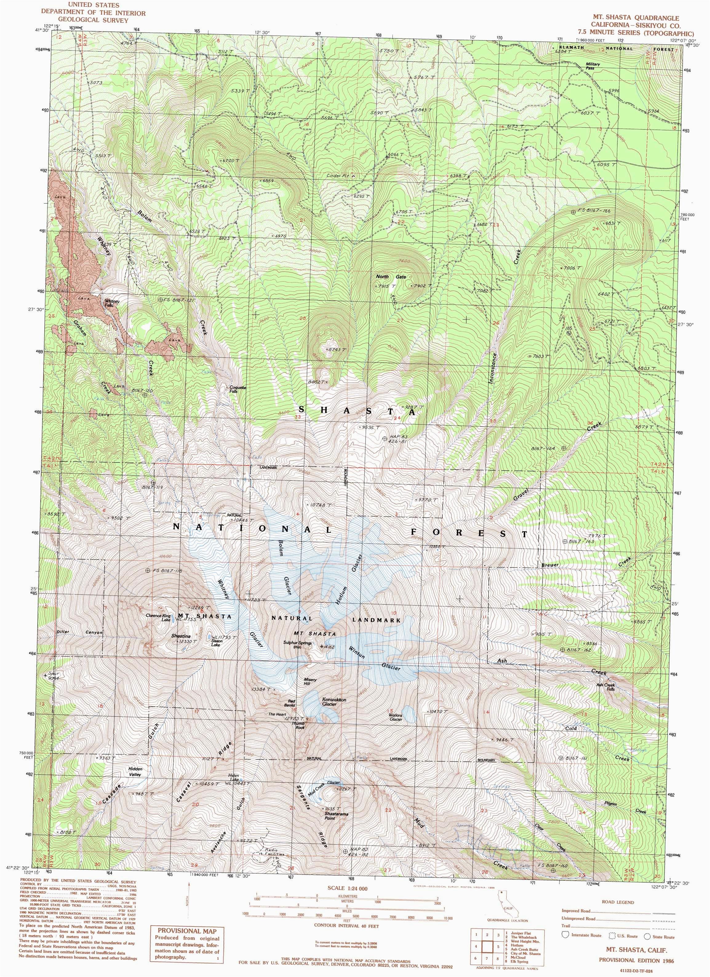 Mount Shasta California Map Od Map California Mount Shasta California Map Klipy org