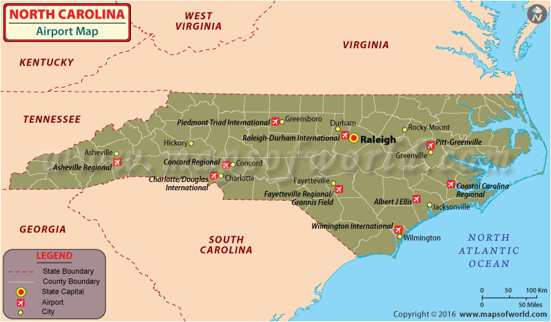 North Carolina Airports Map Map Of Airports In Usa and ...