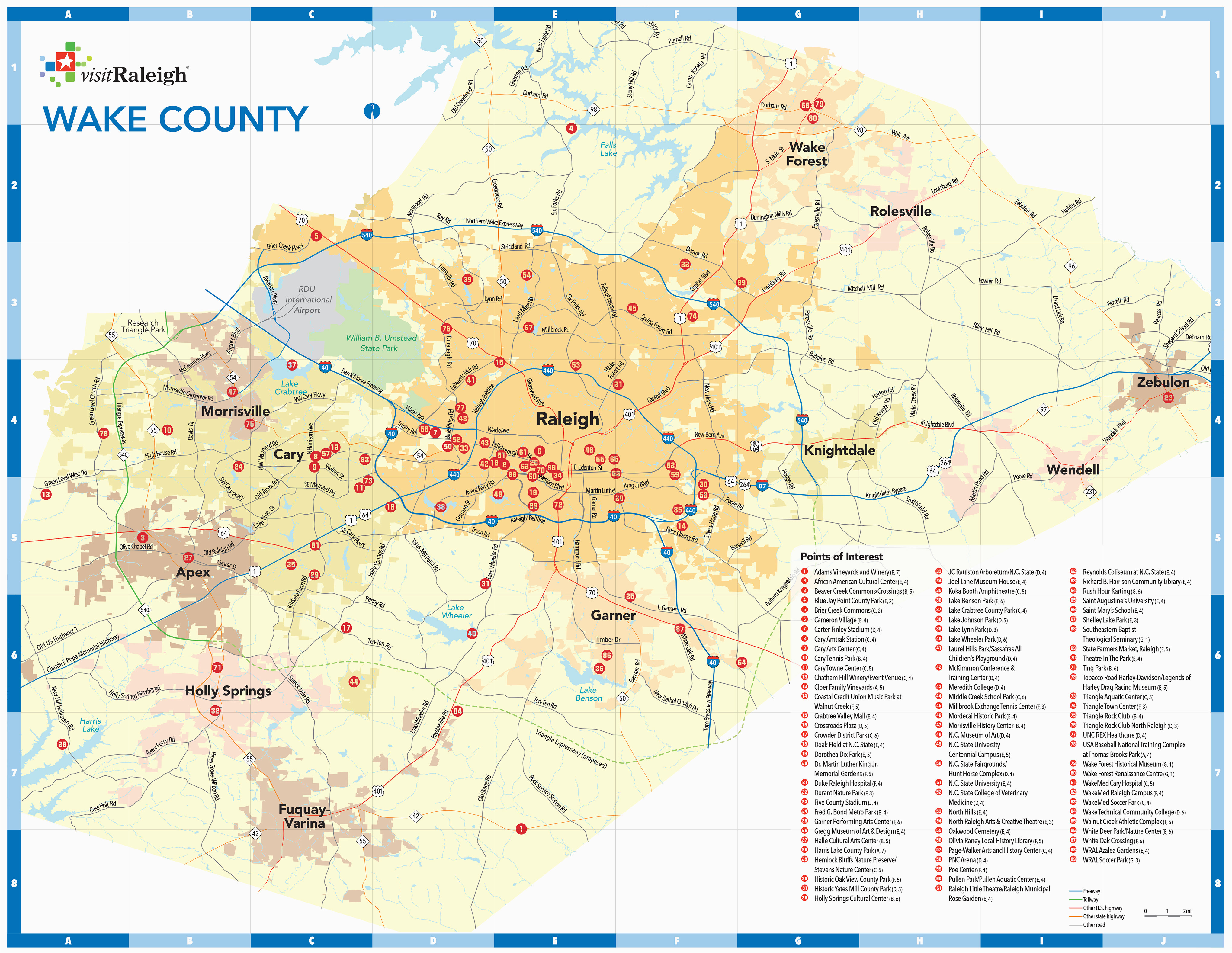 raleigh n c maps downtown raleigh map