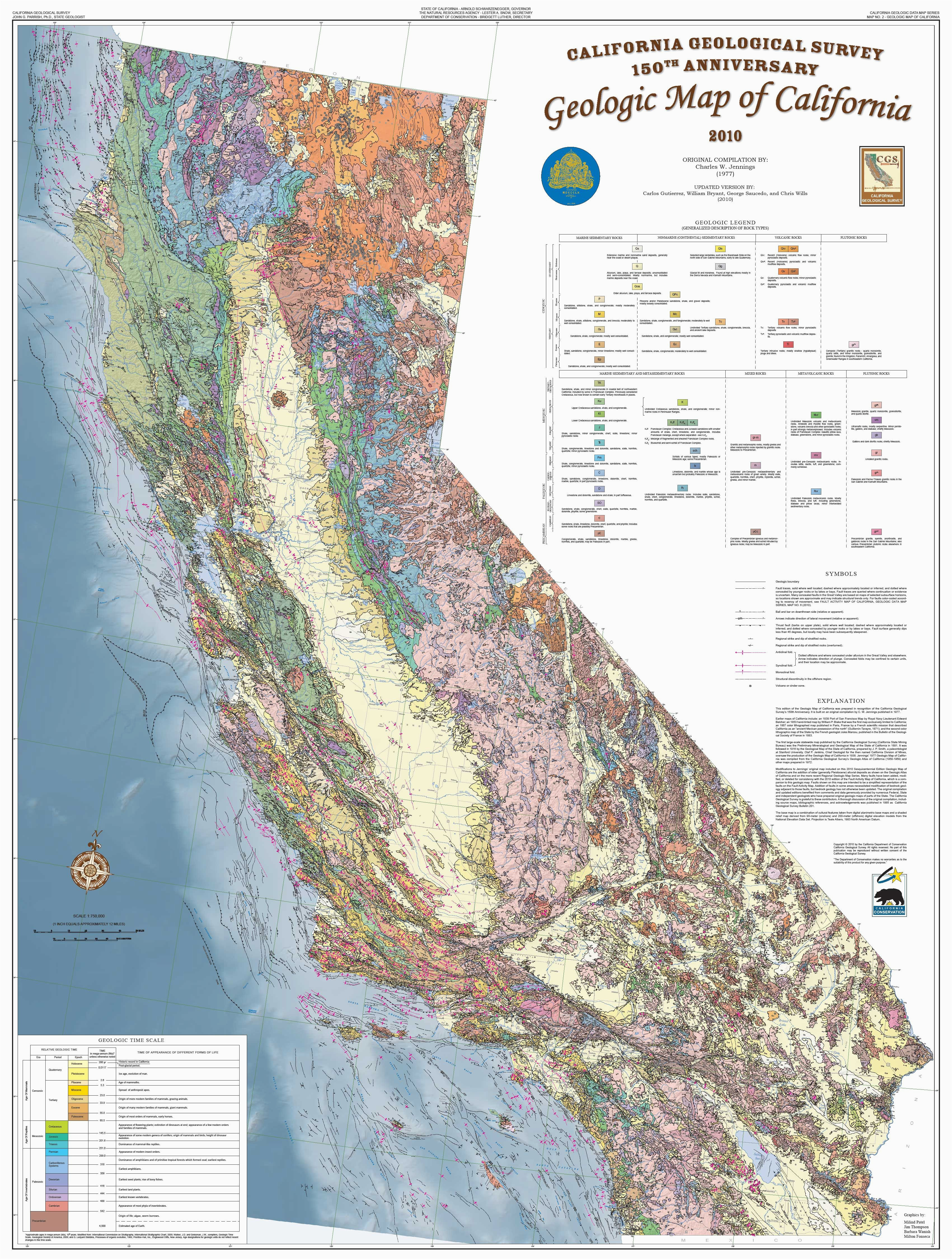 california geological survey 2010 state geologic map of california