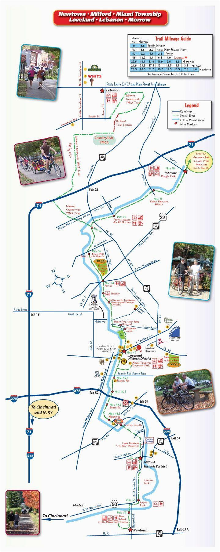 trail maps little miami loveland bike trail map loveland ohio