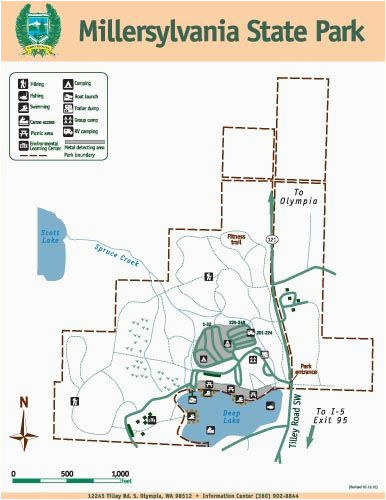 millersylvania state park map places i ve been pinterest state