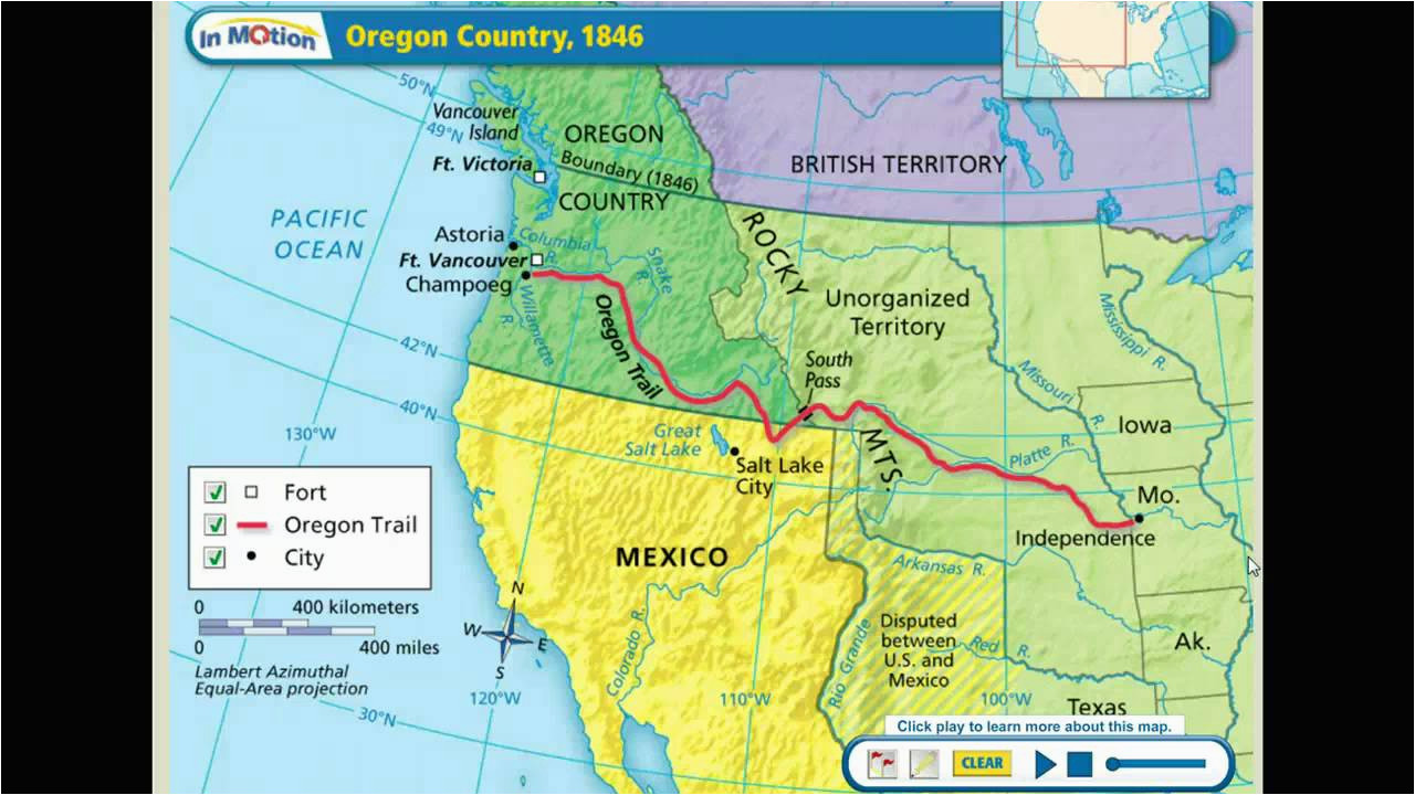 Oregon Country Map 1846 Map Of the oregon Country and Travel