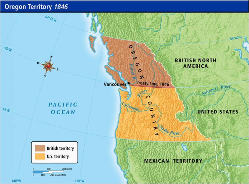oregon treaty 1846 a origins of the ideology of manifest destiny